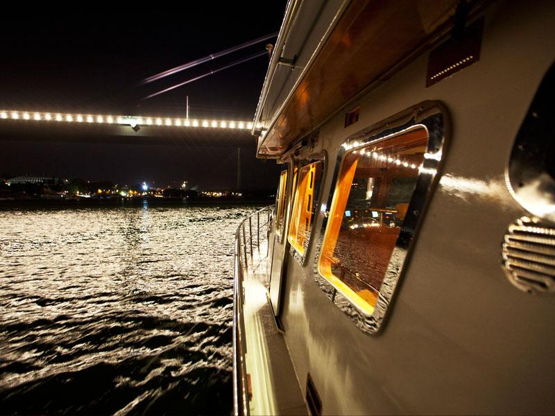 Belgrade from a speedboat yacht – on request